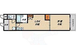 サニーパレス京橋 2階1DKの間取り