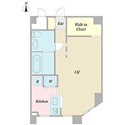 プチポワソン 2階ワンルームの間取り