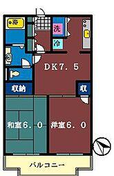 シティビレッジ三咲[106号室]の間取り
