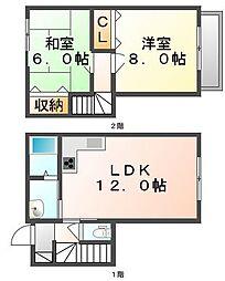 [テラスハウス] 香川県高松市中間町 の賃貸【香川県 / 高松市】の間取り
