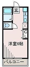 美山台ハイツ[2階]の間取り