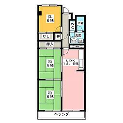 矢田川パークハウスA棟 812号室[8階]の間取り
