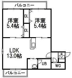 そふぃおーね円山北二条[1階]の間取り