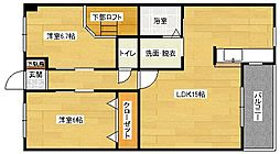ルネス祇園[204号室]の間取り
