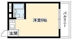 クロンド藤ヶ丘[4F号室]の間取り