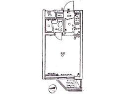 パレドール西国分寺[2階]の間取り