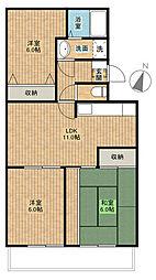 第三葵マンション[4階]の間取り