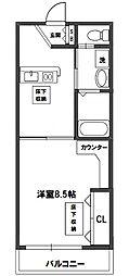 プルメリア新大阪[6階]の間取り