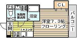 大阪府大阪市東淀川区小松1丁目の賃貸マンションの間取り