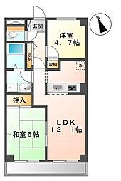 旭区鶴ヶ峰本町 リビオン203号室[2階]の間取り