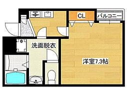 シエテ生野東[3階]の間取り