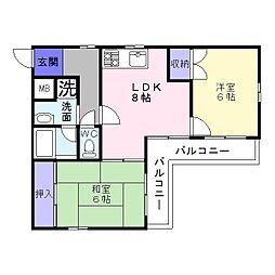 メゾンパークレット[2階]の間取り