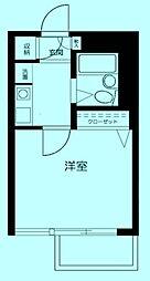 クレセントユニ高津[5階]の間取り