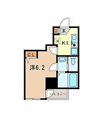 東京都江東区北砂6丁目の賃貸マンションの間取り