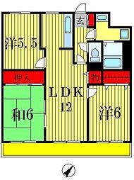 フローラル松戸[7階]の間取り