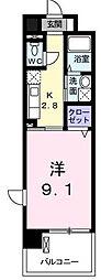 東京都昭島市朝日町1丁目の賃貸マンションの間取り