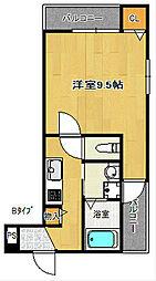 フジパレス西住之江II番館[2階]の間取り