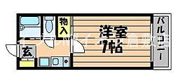 岡山県総社市金井戸の賃貸アパートの間取り