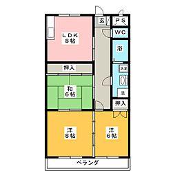 ファイン青山[2階]の間取り