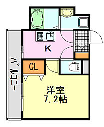 ステーションタワー[307号室]の間取り