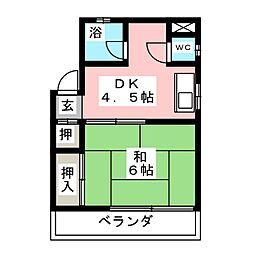 福住ビル[4階]の間取り