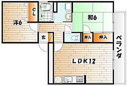 グレイス・イナミツB棟[1階]の間取り