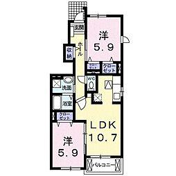 メゾンクレールI[1階]の間取り