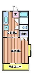 ハイムカトレア[1階]の間取り