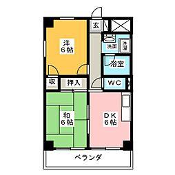 ハウスアベニュー[5階]の間取り