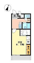 兵庫県相生市古池2丁目の賃貸アパートの間取り