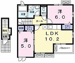グランドゥソレイユ[2階]の間取り