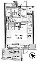 ドルフ後楽園ステーションフロント 7階ワンルームの間取り