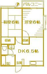 グランデュールドーマB棟[2階]の間取り