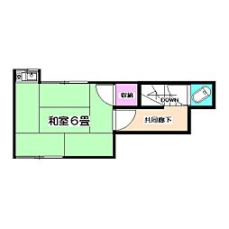 第2やよい荘[2階]の間取り
