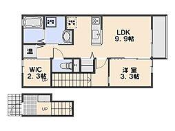 広島県広島市佐伯区五日市3丁目の賃貸アパートの間取り