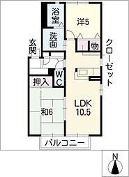 プレミール21[1階]の間取り