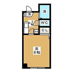 上杉KKビル[4階]の間取り