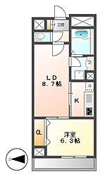 カスタリア新栄II(ロイジェント新栄I)[3階]の間取り