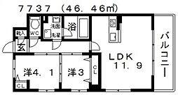 セレーナ[303号室号室]の間取り