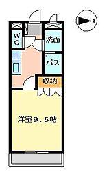 メルヴェーユ宮崎[102号室]の間取り