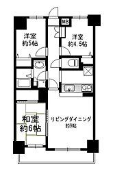 神奈川県横浜市南区南吉田町2丁目の賃貸マンションの間取り