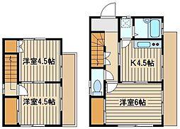 [一戸建] 東京都練馬区東大泉6 の賃貸【東京都 / 練馬区】の間取り