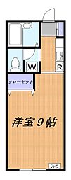 アネックス横浜[202号室]の間取り