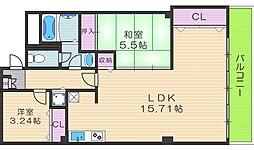 田辺フジタビル[4階]の間取り
