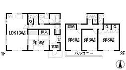 [一戸建] 兵庫県宝塚市中山台1丁目 の賃貸【/】の間取り