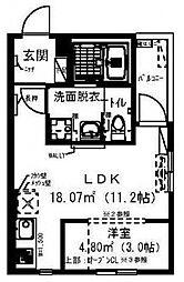 レイディエンス新松戸[302号室号室]の間取り
