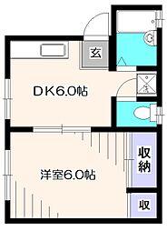 マイタウン久米川[2階]の間取り