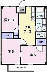 ニューシティー勢田[2階]の間取り