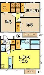 [テラスハウス] 神奈川県横浜市南区中里2丁目 の賃貸【/】の間取り