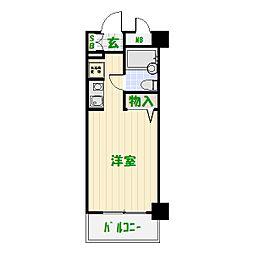 モナークマンション堀切菖蒲園[408号室]の間取り